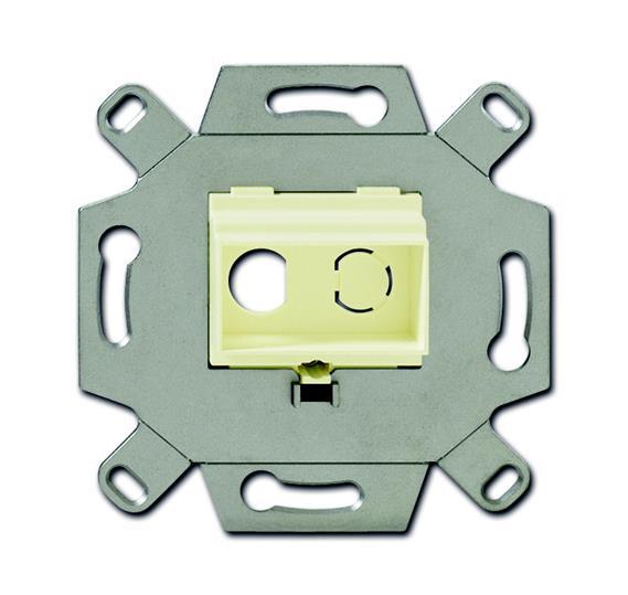 Адаптор/суппорт для RCA-разъёмов (колокольчик/тюльпан), цвет слоновая кость 0230-0-0444 ABB