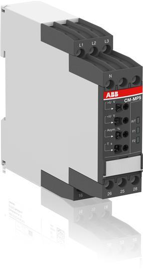 Реле контроля CM-MPS.21S с контр нуля, Umin/Umax=3х180-220В/240-280BAC, обрыв, чередование, асимм-я 1SVR730885R3300 ABB