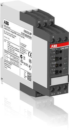 Однофазное реле контроля напряжения CM-ESS.MS многофункц. (диапаз. изм. 3-30В, 6-60В, 30-300В, 60-60 1SVR730830R0500 ABB