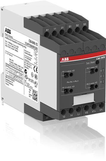 Реле контроля сопротивления изоляции CM-IWN.1S (1-200кОм) Uизм=400В AC/600В DC, пружинные клеммы 1SVR750660R0200 ABB