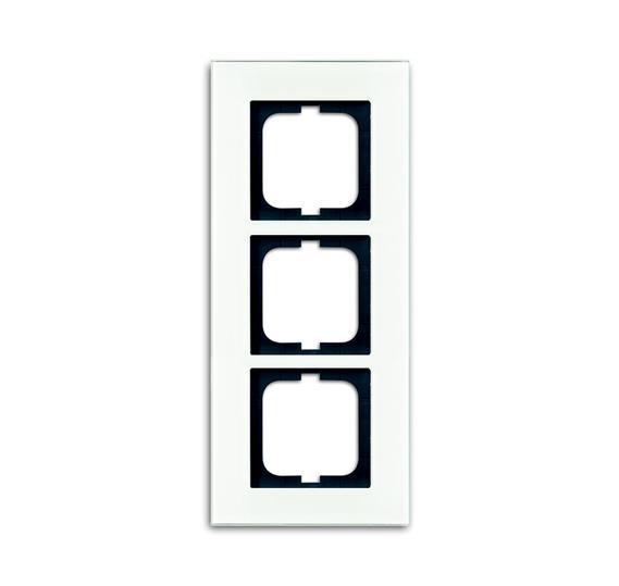 Рамка 3-постовая, серия carat, белое стекло (v.2012) 1754-0-4444 ABB