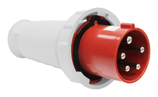 Вилка силовая переносная 035 3Р+PE+N 63А IP54 SE035-063Q Texenergo