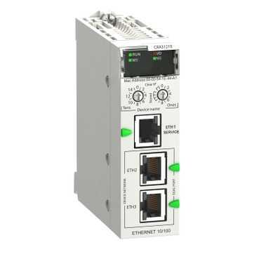 Адаптер удаленного в/в RIO Ethernet,Modicon X80, улучше BMXCRA31210 Schneider Electric