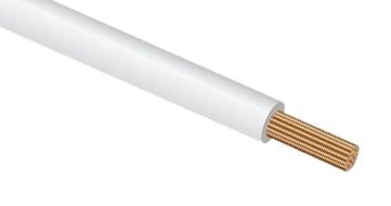 Провод монтажный ПуГВ (ПВ-3) 1 белый PV3C1 Россия