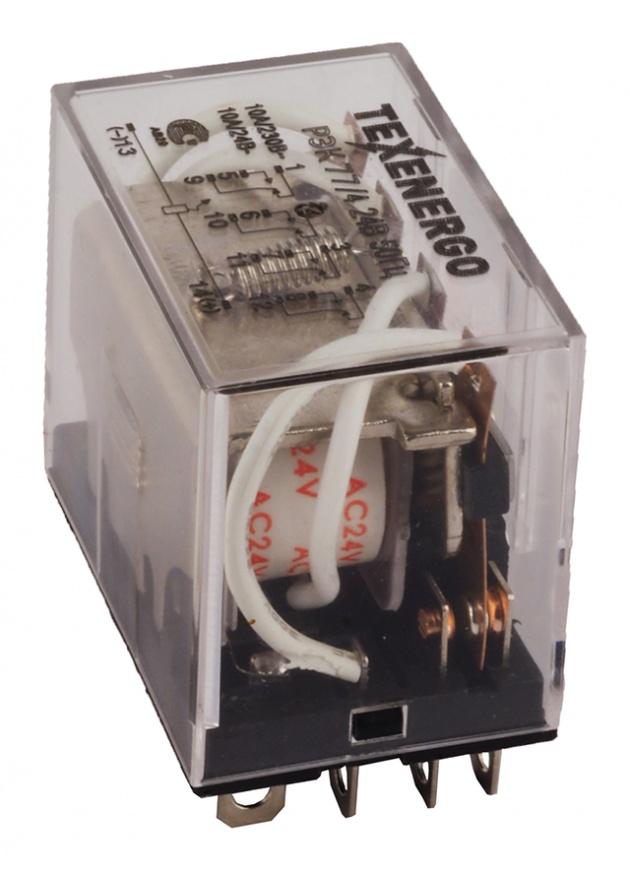 Реле промежуточное РЭК 77/4 220В 50Гц 10А RP77-4M Texenergo