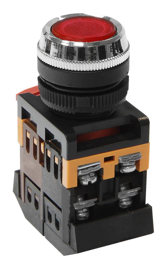 Кнопка ABLFS-22 красная с подсветкой MFK-ABLFS-230-04 Texenergo