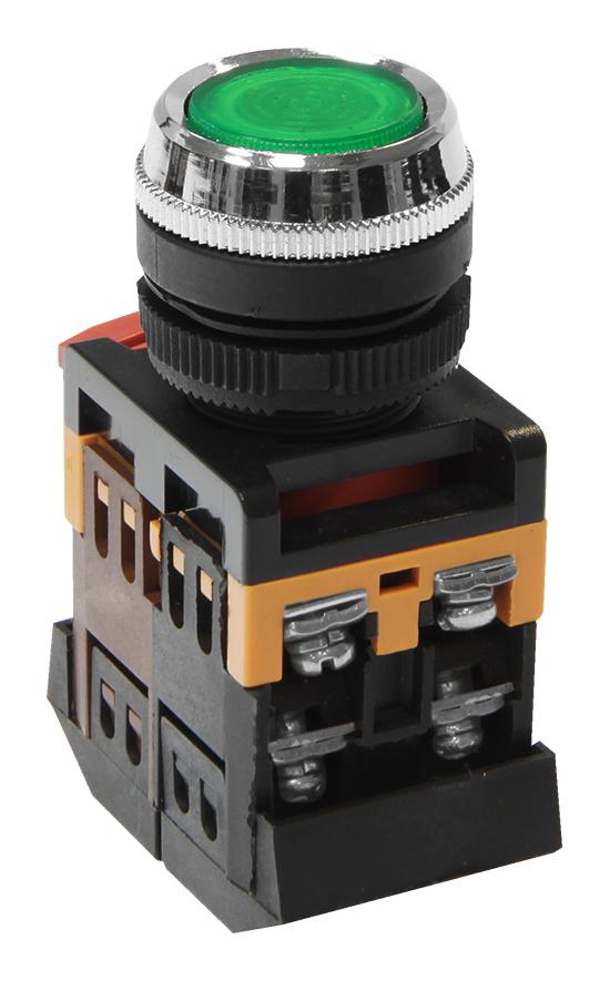 Кнопка ABLFS-22 зеленая с подсветкой MFK-ABLFS-230-06 Texenergo
