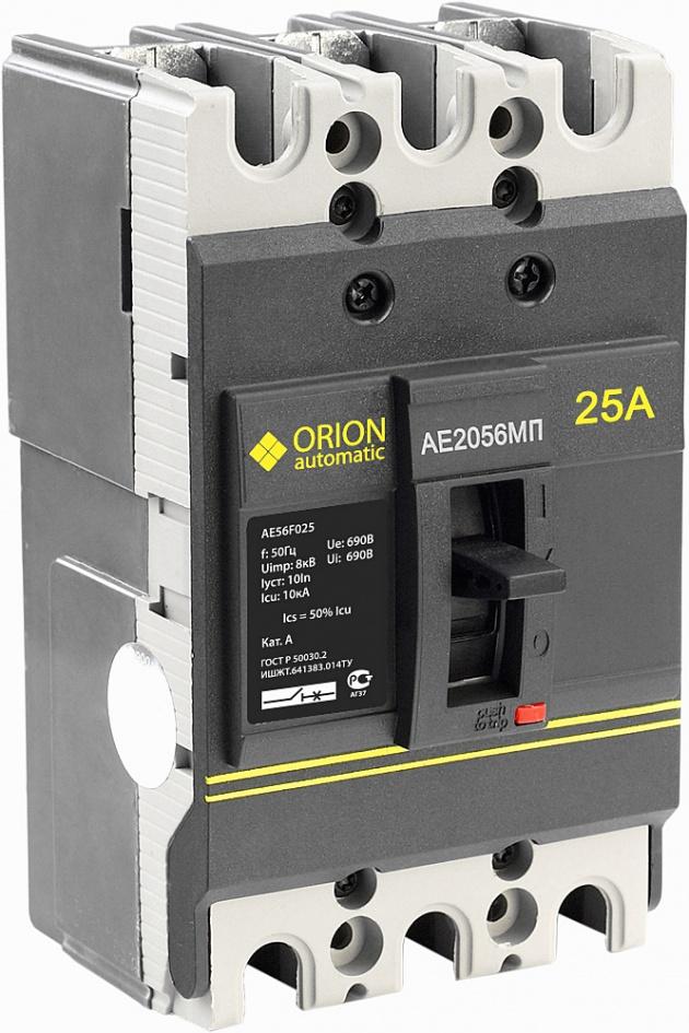 Автоматический выключатель АЕ 2056 МП 25А 660В 10кА AE56F025 Texenergo