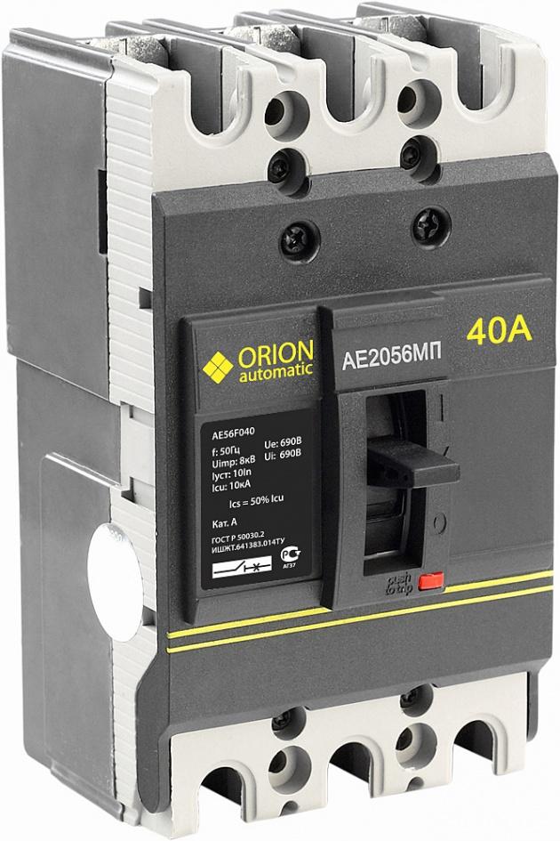 Автоматический выключатель АЕ 2056 МП 40А 660В 10кА AE56F040 Texenergo