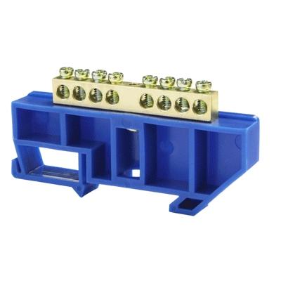 Шина нулевая 8/1 6х9 мм (с синим изолятором) NN-69-08-DB Texenergo