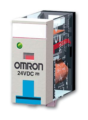 G2R-2-SNDI 24DC(S) Реле серии G2RS, двухполюсное, светодиодный индикатор, диод и тестовая кнопка, напряжение питания 24 V DC, ток 5 A 125291 Omron
