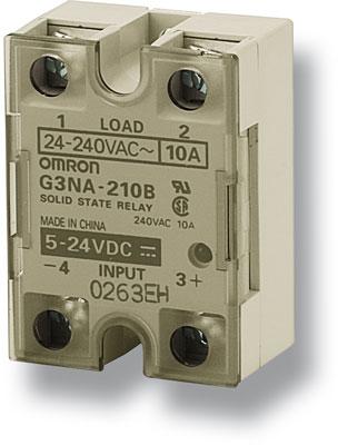 G3NA-250B-UTU DC5-24 Твердотельное реле серии G3NA, для коммутации цепей переменного тока, контроль перехода фазы через ноль, управление 5-24 V DC, коммутация 200 V AC/DC, 50 A 227320 Omron