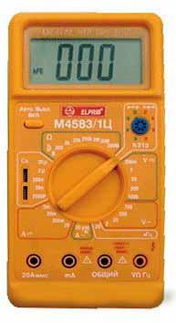Мультиметр М4583/1Ц (1000В,10А,200МОм,2-20кГц)  Россия