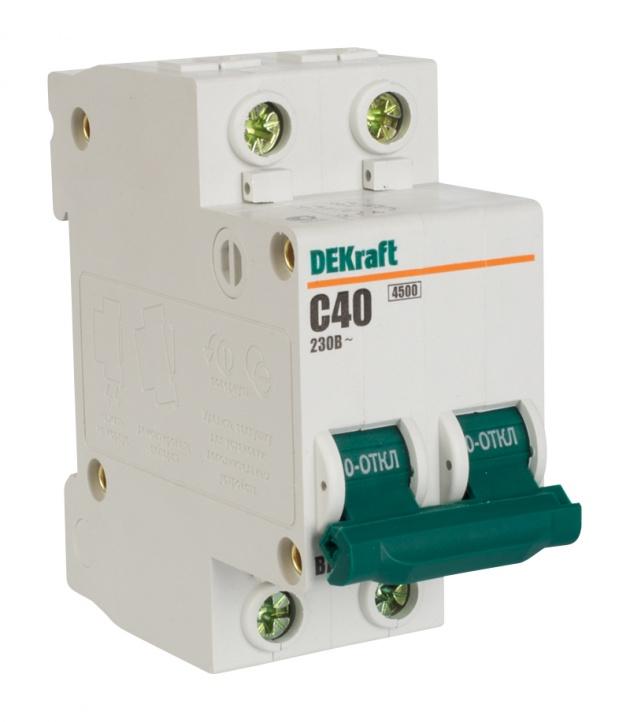Автоматический выключатель ВА 101 2п 40А С 4,5кА 11070DEK Schneider Electric