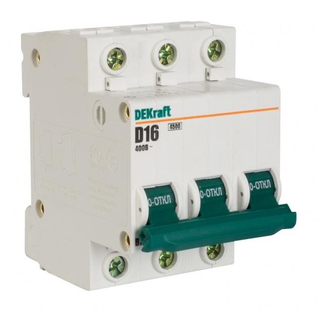 Автоматический выключатель ВА 101 3п 16А С 4,5кА 11078DEK Schneider Electric