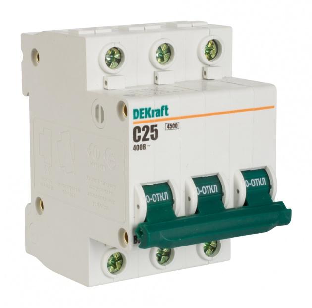 Автоматический выключатель ВА 101 3п 25А С 4,5кА 11080DEK Schneider Electric
