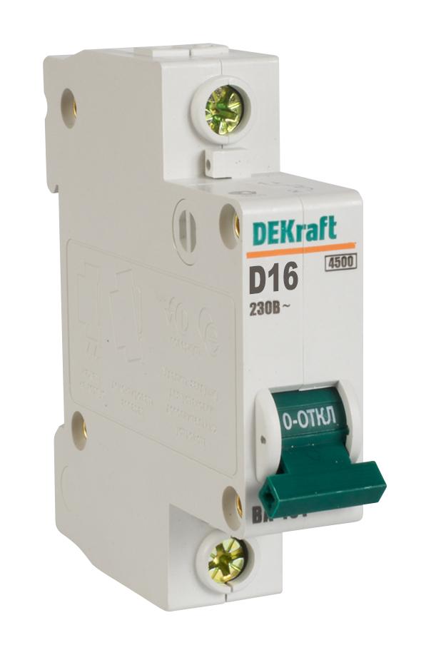 Автоматический выключатель ВА 101 1п 16А D 4,5кА 11102DEK Schneider Electric