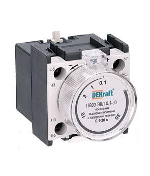 Приставка выдержки времени ПВ03-ВКЛ-0.1-3 0.1-3 сек при включении 24111DEK Schneider Electric
