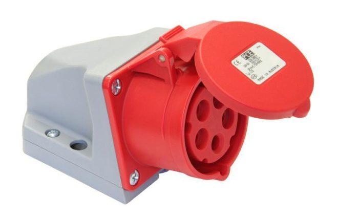 РС102-5-32-IP44 Розетка стационарная 125 3Р+РЕ+N 32А IP44 26033DEK Schneider Electric