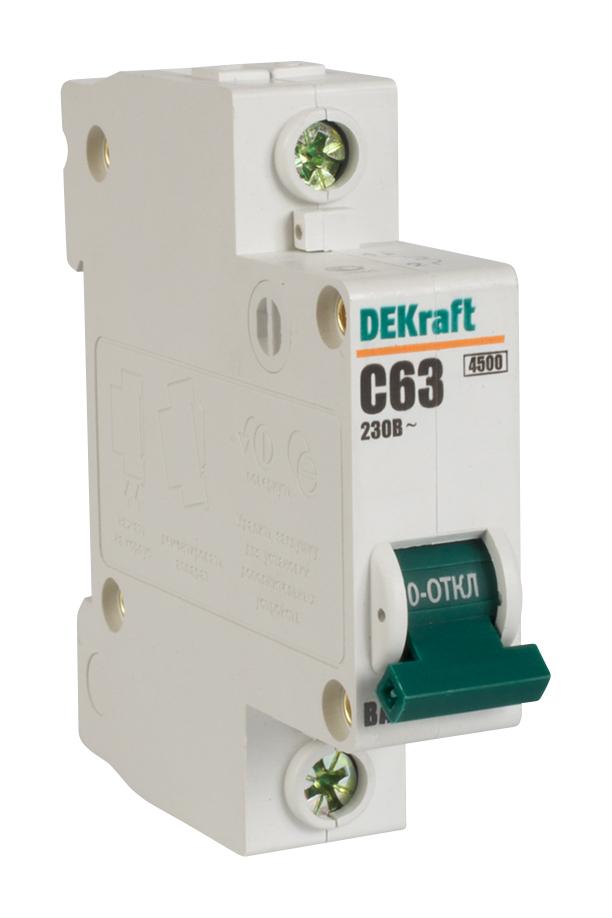 Автоматический выключатель ВА 101 1п 63А С 4,5кА 11060DEK Schneider Electric