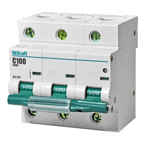 ВА201-3P-100A-C Автоматический выключатель ВА 201 3п 100А С 10кА 13009DEK Schneider Electric