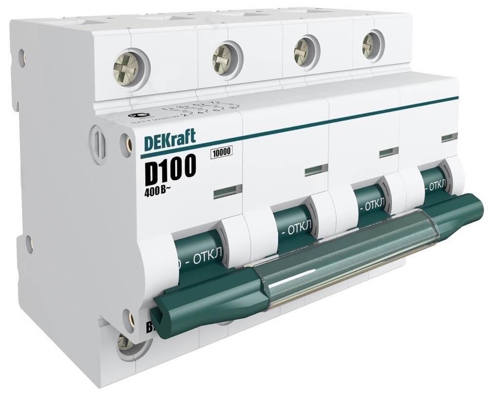 ВА201-4P-100A-D Автоматический выключатель ВА 201 4п 100А D 10кА 13024DEK Schneider Electric