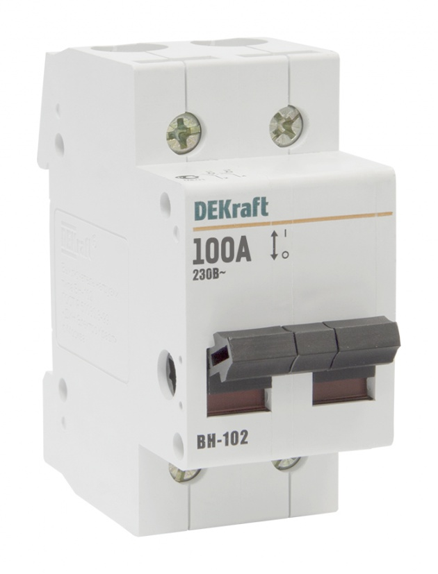 Выключатель нагрузки ВН102 2P 100A 17008DEK Schneider Electric