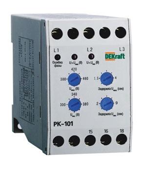 Реле контроля фаз 380В тип 01 серии РК-101 DEKraft 23300DEK Schneider Electric