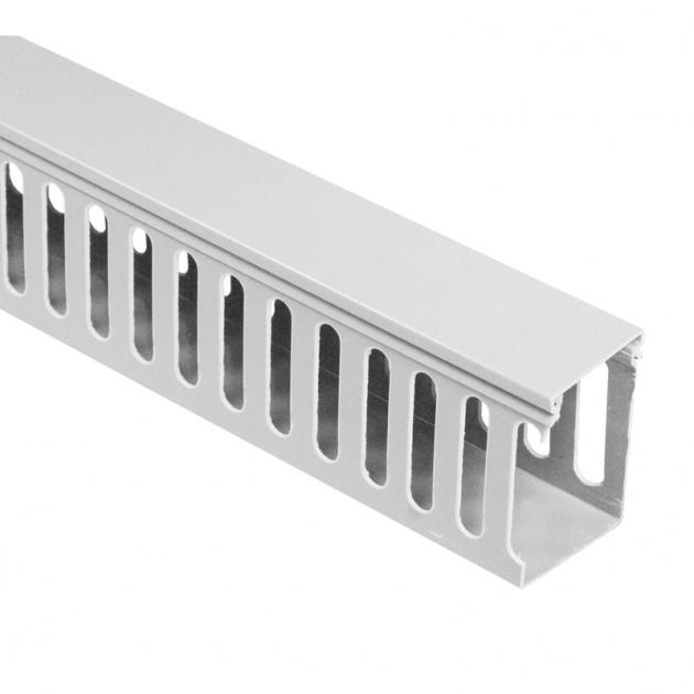 Кабель-канал перфорированный 40х60 (ПВХ-серый) CKKP040-060G Texenergo