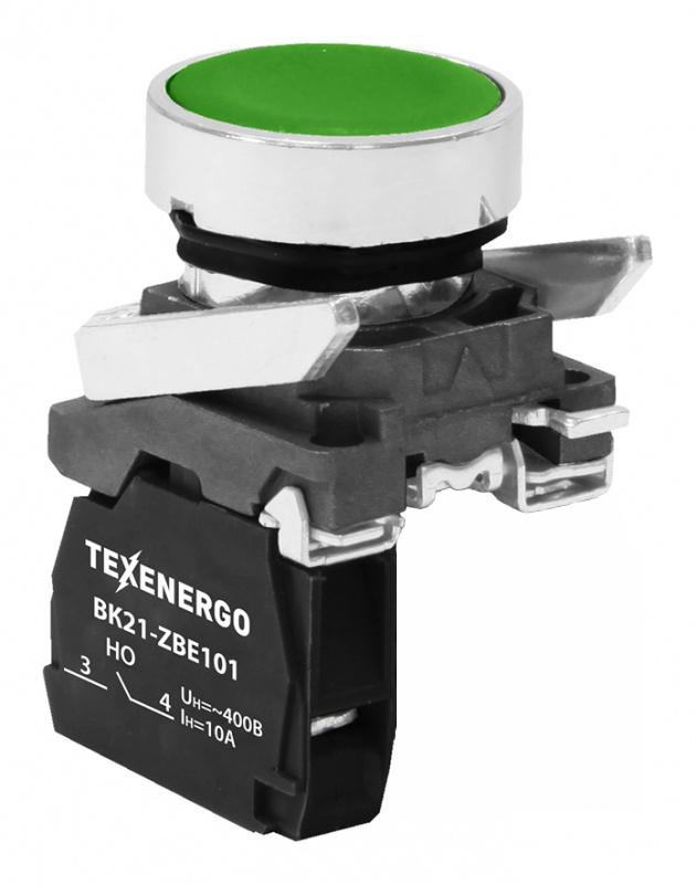 Выключатель кнопочный ВК21-ВА31 1з зеленая B21-BA31 Texenergo