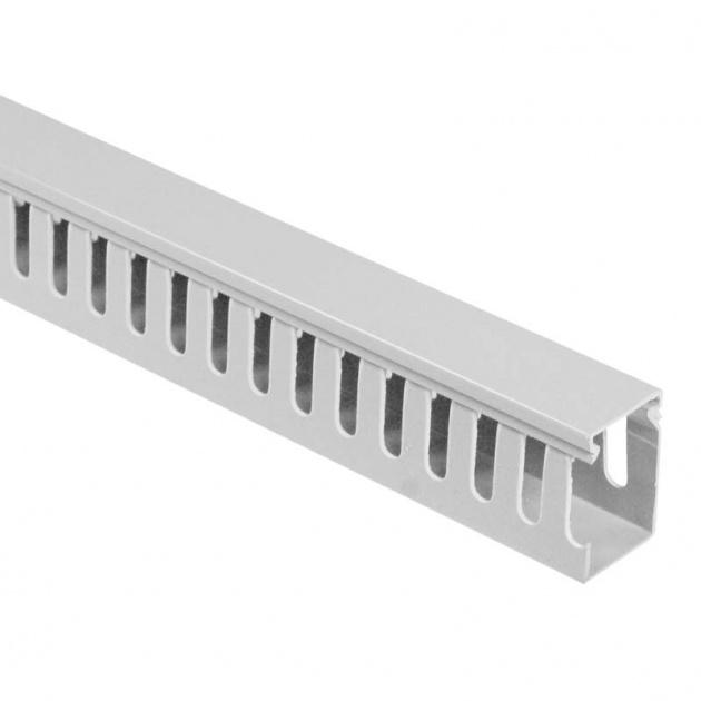 Кабель-канал перфорированный 25х60 (ПВХ-серый) CKKP025-060G Texenergo