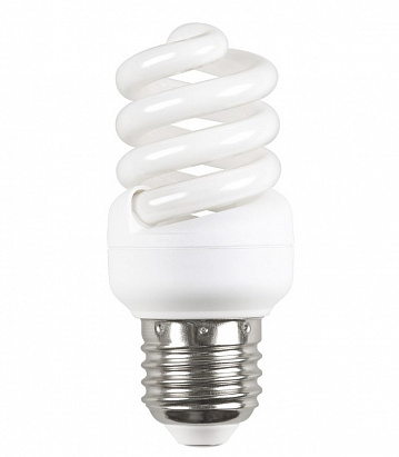 Лампа энергосберегающая спираль КЭЛ-FS Е27 20Вт 4000К Т2 ПРОМОПАК 3 шт ИЭК LLE25-27-020-4000-T2-S3 IEK