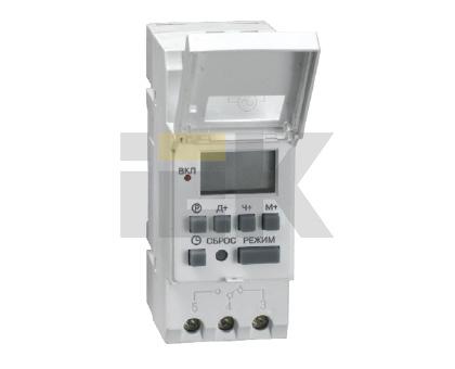 Таймер ТЭ15 цифровой 16А 230В на DIN-рейку ИЭК MTA10-16 IEK