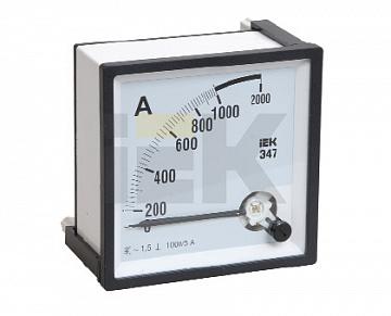Амперметр Э47 2000/5А кл. точн. 1,5 96х96мм IPA20-6-2000-E IEK