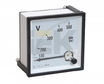 Вольтметр Э47 300В кл. точн. 1,5 96х96мм IPV20-6-0300-E IEK
