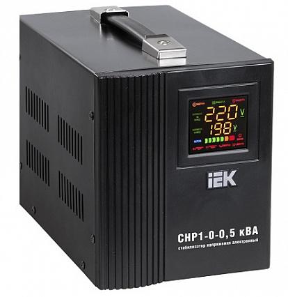 Стабилизатор напряжения СНР1-0- 0,5 кВА электронный переносной ИЭК IVS20-1-00500 IEK