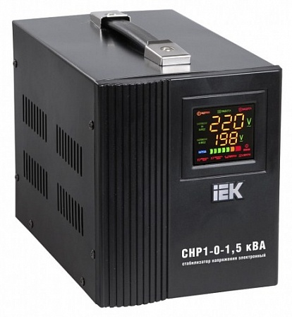 Стабилизатор напряжения СНР1-0- 1,5 кВА электронный переносной ИЭК IVS20-1-01500 IEK