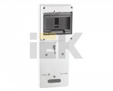 Панель для установки счетчика ПУ1/2-7 1-фазн. с боксом для автоматов модульных серий (7мод.) с проз MPP10-1 IEK