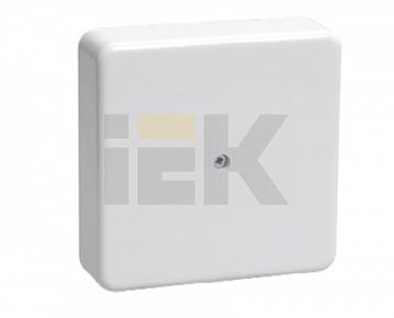 Коробка КМ41222 распаячная для о/п 100х100х44мм белая(с контактной группой) UKO10-100-100-044-K01 IEK