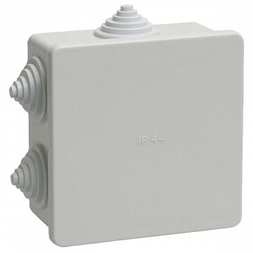 Коробка КМ41233 распаячная для о/п 100х100х50мм IP44 (RAL7035, 6 гермовводов) UKO11-100-100-050-K41-44 IEK