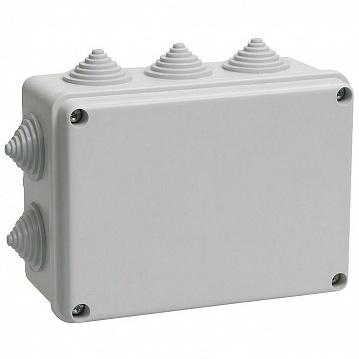 Коробка КМ41242 распаячная для о/п 150х110х70мм IP55 (RAL7035, 10 гермовводов) UKO10-150-110-070-K41-55 IEK