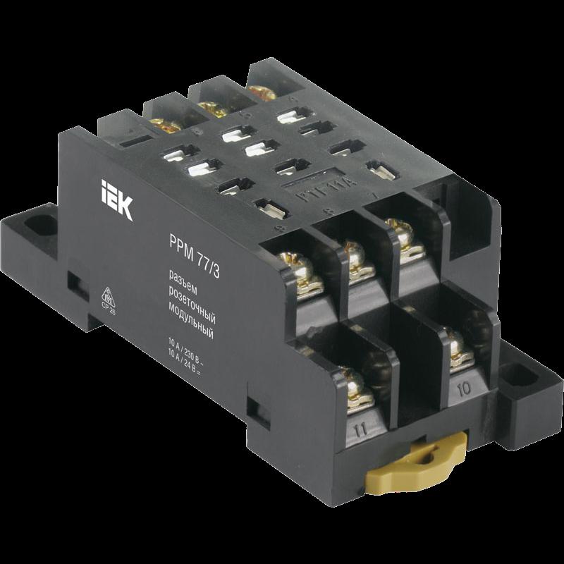Разъем РРМ77/3(PTF11A) для РЭК77/3(LY3) модульный ИЭК RRP10D-RRM-3 IEK