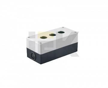 Корпус КП103 для кнопок 3места белый ИЭК BKP10-3-K01 IEK