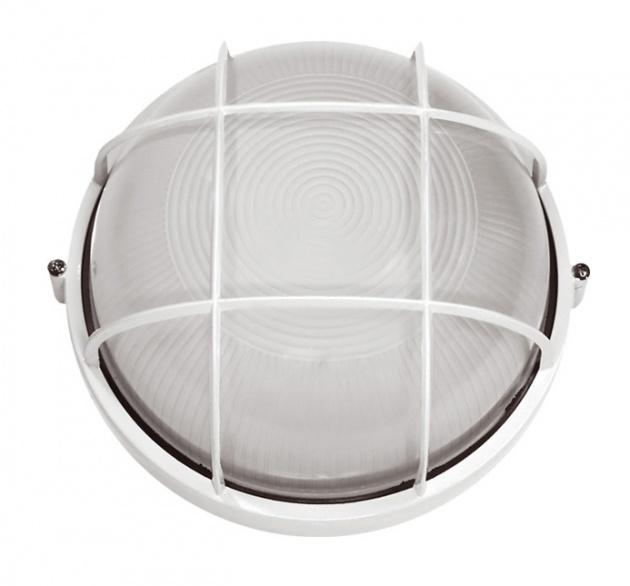 Светильник НПП1102 белый/круг с реш. 100Вт IP54 ИЭК LNPP0-1102-1-100-K01 IEK