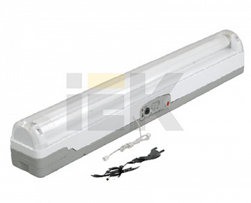 Светильник ЛБА 3924, аккумулятор, 4 ч., 1х20Вт, T8/G13 ИЭК LLBA0-3924-1-20-K01 IEK