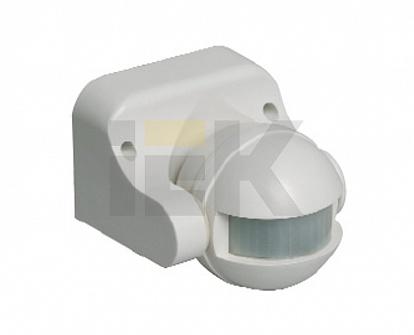 Датчик движения ДД 009 белый, макс. нагрузка 1100Вт, угол обзора 180град., дальность 12м, IP44, ИЭК LDD10-009-1100-001 IEK