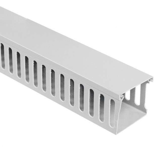 Кабель-канал перфорированный 60х60 (ПВХ-серый) CKKP060-060G Texenergo