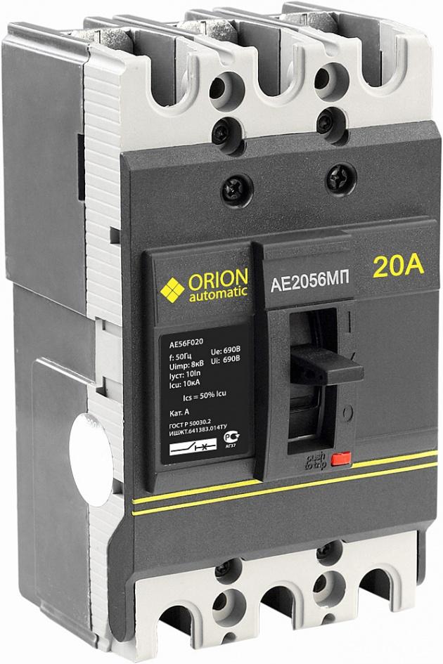 Автоматический выключатель АЕ 2056 МП 20А 660В 10кА AE56F020 Texenergo