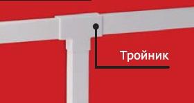 IM 15x17 Тройник белый (розница 4 шт в пакете, 15 пакетов в коробке) In-Liner DKC 00535R DKC