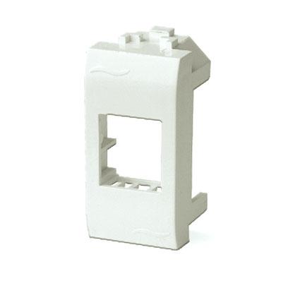 Адаптер для информационных разъемов SIEMON, слоновая кость, 1мод. Brava DKC 75608S DKC
